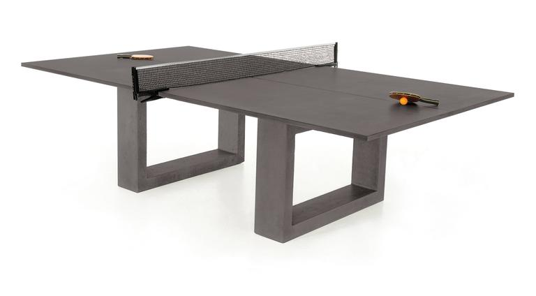 Modern James de Wulf Customizable Concrete Ping Pong Table For Sale