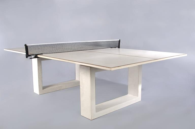 American James de Wulf Customizable Concrete Ping Pong Table For Sale
