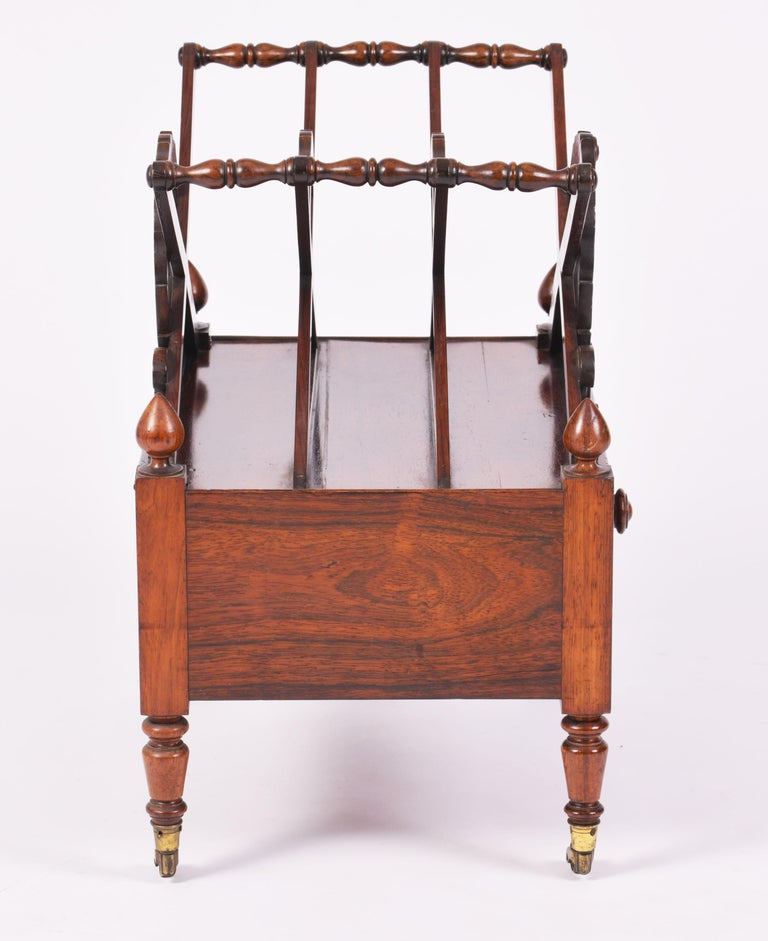 19th Century English Rosewood X Frame Canterbury For Sale 5