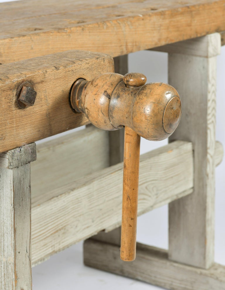 English Early 20th Century Primitive Workbench For Sale