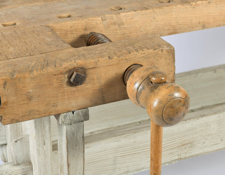 Early 20th Century Primitive Workbench In Good Condition For Sale In London, GB