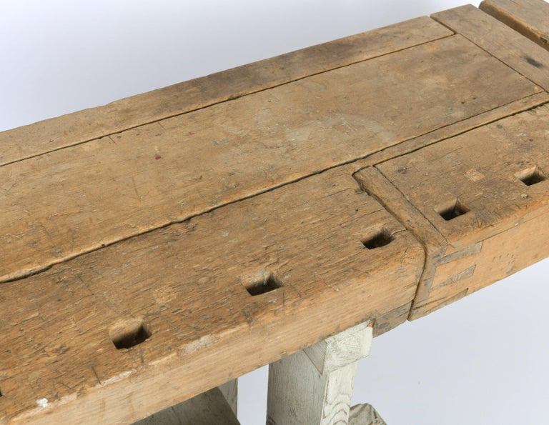 Early 20th Century Primitive Workbench For Sale 4