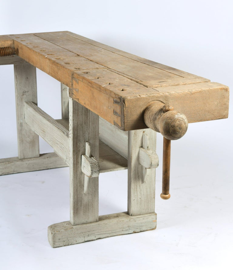 Early 20th Century Primitive Workbench For Sale 6