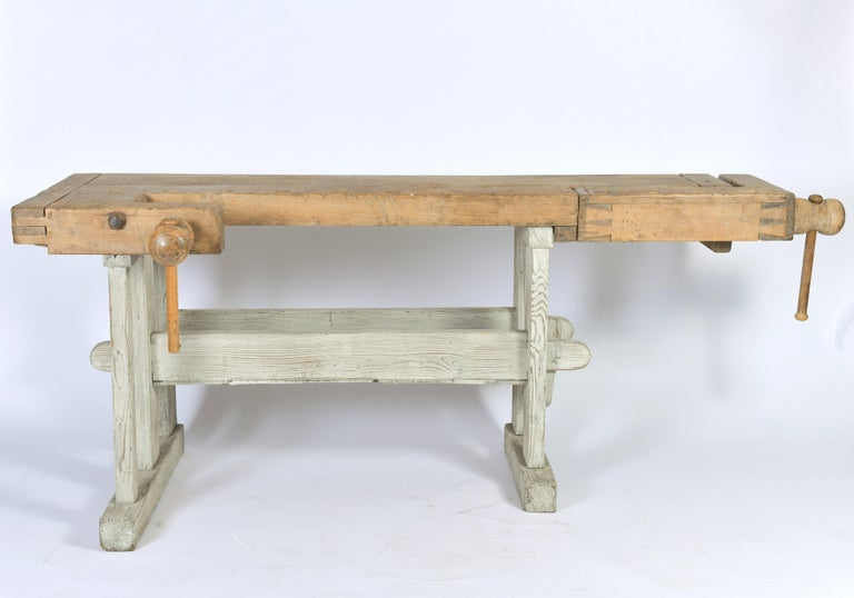 Early 20th Century Primitive Workbench For Sale 7