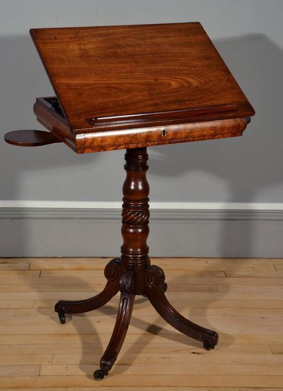 Late regency mahogany artist s table on quadra form base for Table titanium quadra 6