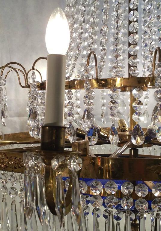 European 20th Century Regency Style 'Baltic' Chandelier For Sale