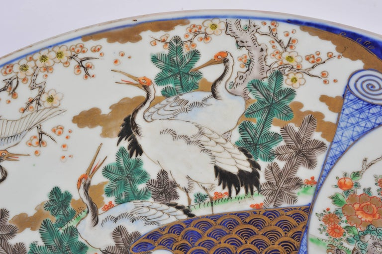 19th Century Oversized Imari Charger In Excellent Condition For Sale In London, GB