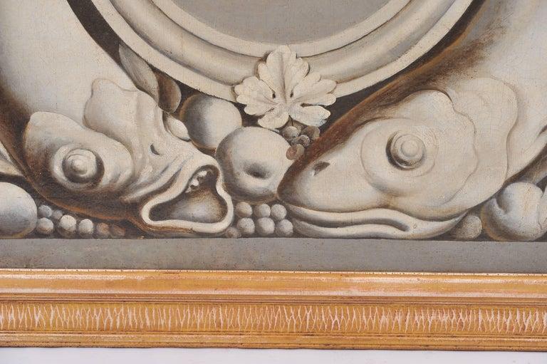 18th Century Trompe-l'œil Cherub Painting For Sale 1