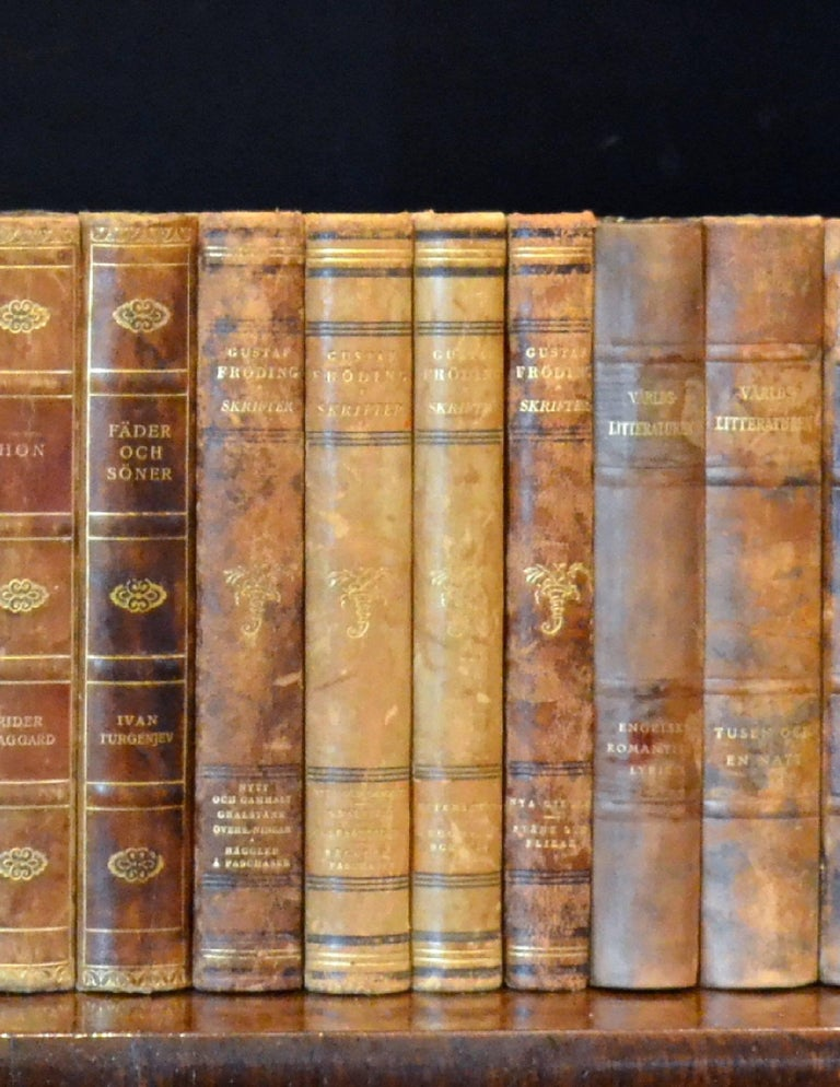 Meter of 20th Century Leather Bound Books, Series 15/16 In Good Condition For Sale In London, GB