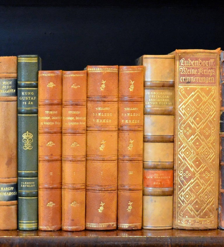 Meter of Early 20th Century Leather Bound Books, Series 21/22 In Good Condition For Sale In London, GB