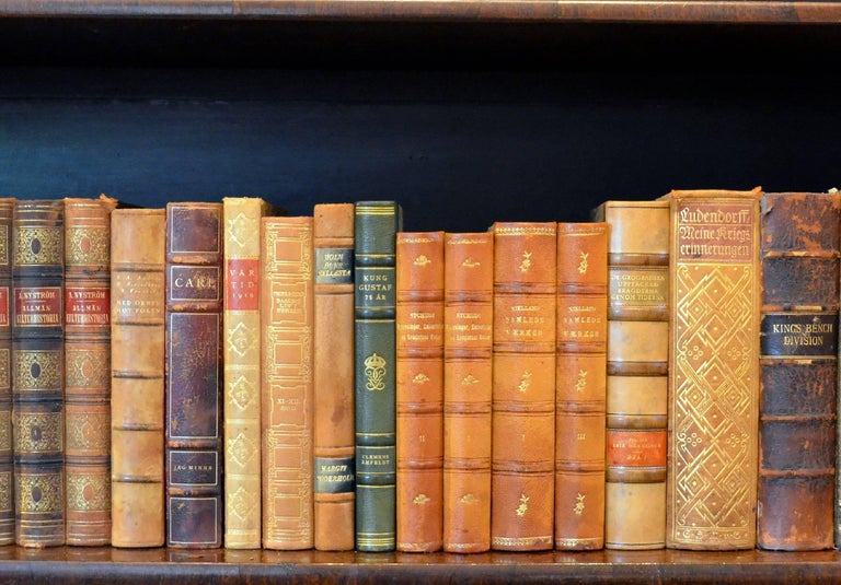 Meter of Early 20th Century Leather Bound Books, Series 21/22 For Sale 2