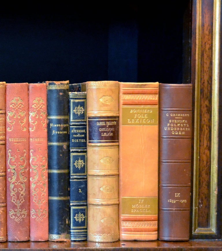 Metre of Early 20th Century Leather Bound Books, Series 25/26 For Sale 1
