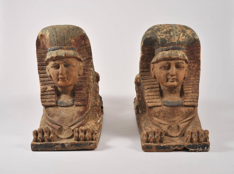 Pair of 19th Century Sphinxes For Sale 4