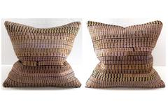 Vintage Gold Silk Embroidery Pillows