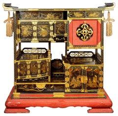 Japanese Lacquer Kazaridana Display Cabinet