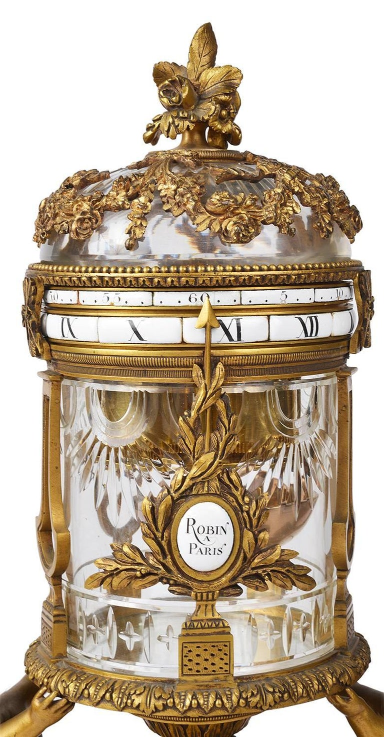 Louis XVI 19th Century Revolving Mantel Clock For Sale