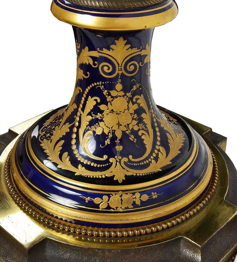 Large 19th Century Sevres Style Porcelain Vase For Sale 3