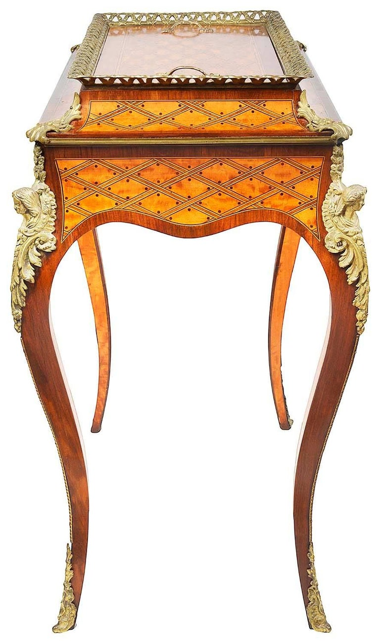 Parquetry Donald Ross, Louis XVI Style Inlaid Jardinière Table, 19th Century For Sale