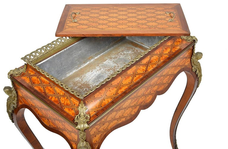Satinwood Donald Ross, Louis XVI Style Inlaid Jardinière Table, 19th Century For Sale