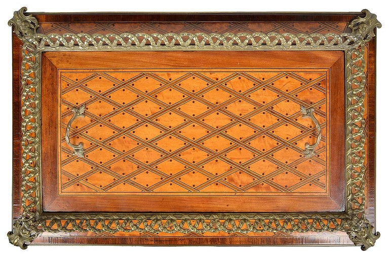Donald Ross, Louis XVI Style Inlaid Jardinière Table, 19th Century For Sale 1