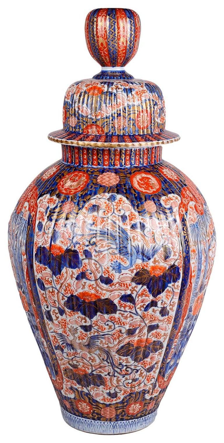 Japanese Large 19th Century Imari Vase For Sale