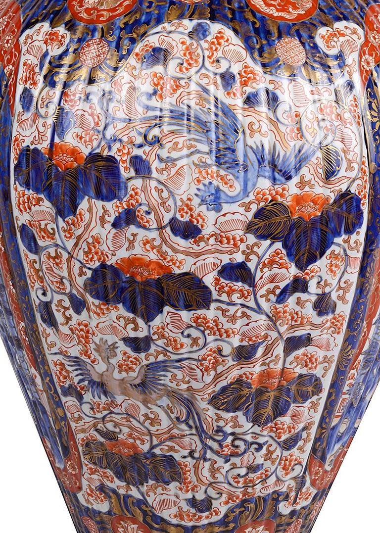 Hand-Painted Large 19th Century Imari Vase For Sale