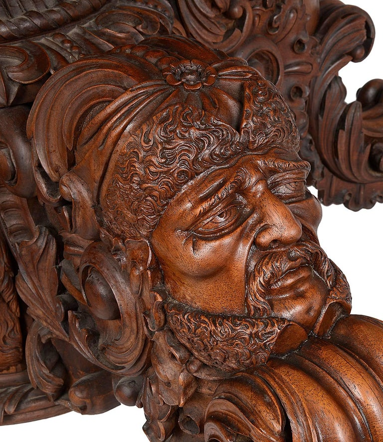 19th Century Carved Walnut Centre Table For Sale 4