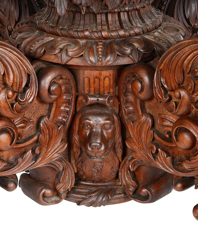 19th Century Carved Walnut Centre Table For Sale 3