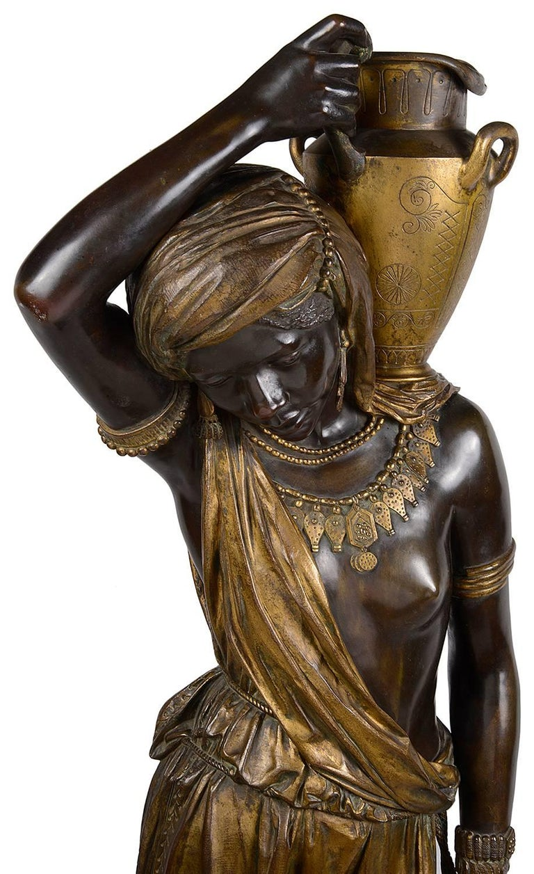 Large 19th Century Nubian Bronze Statue In Excellent Condition For Sale In Brighton, Sussex