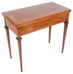 Edwardian Mahogany Inlaid Card Table