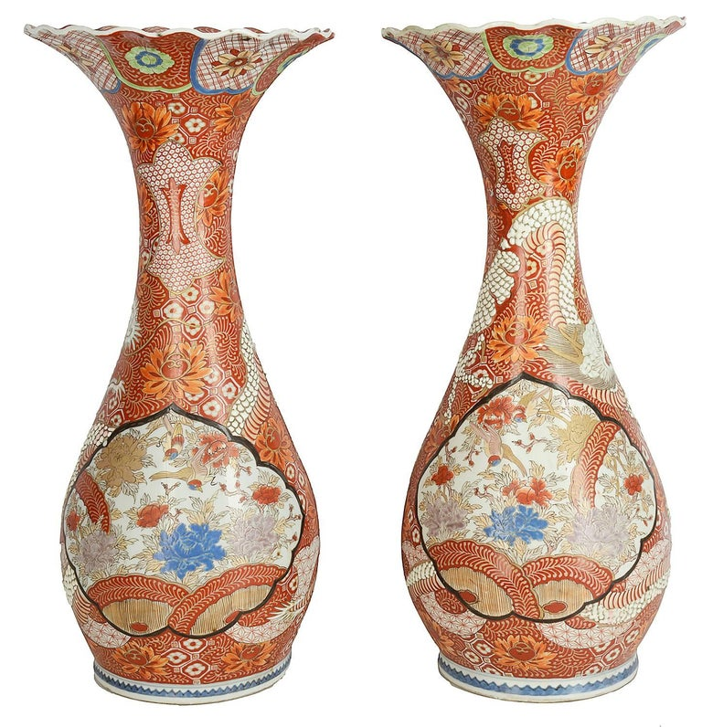 Pair 19th Century Kutani Vases For Sale At 1stdibs