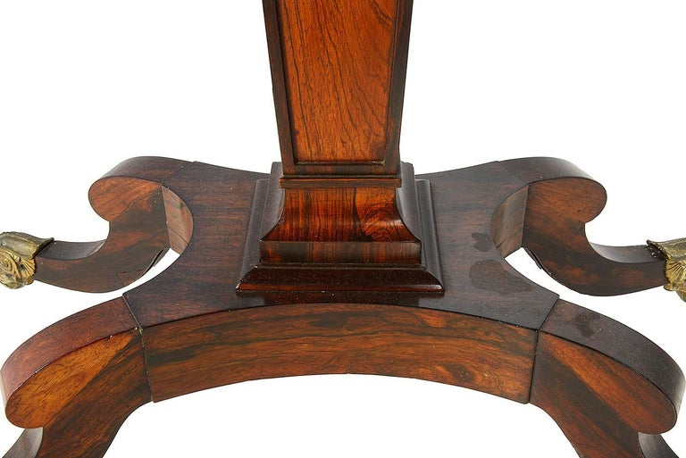 English Pair of Regency Period Rosewood Card Tables For Sale