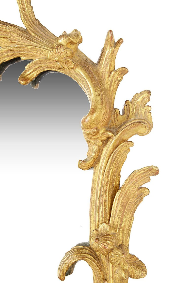 Giltwood Chippendale Period Wall Mirror, 18th Century For Sale