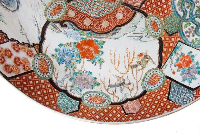 Large Japanese Imari Charger, 19th Century For Sale 2