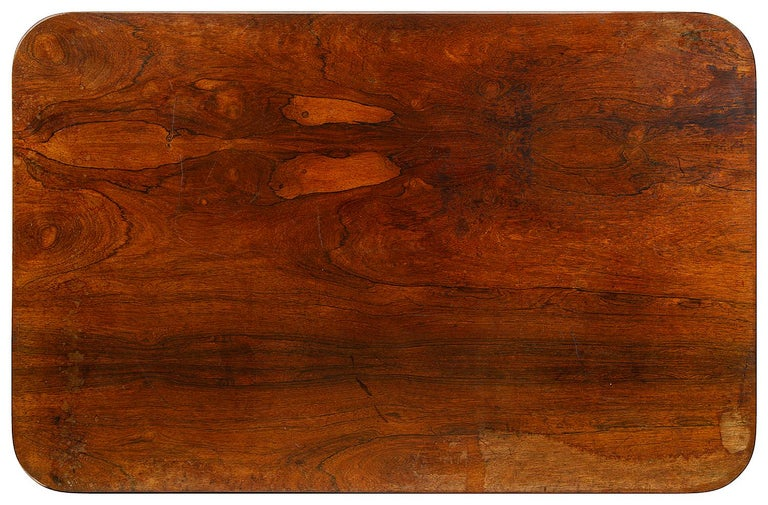 19th Century Regency Period Rosewood Center Table For Sale