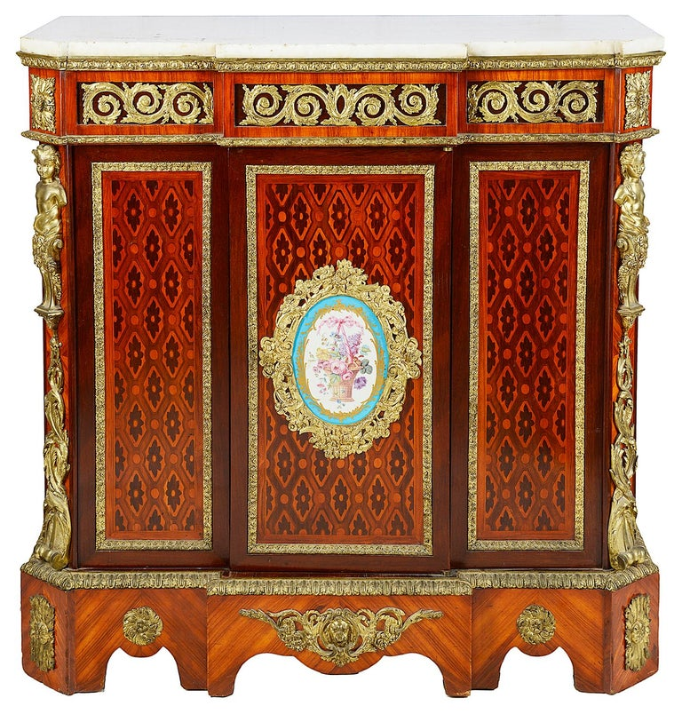 Louis XVI Style Side Cabinet, 19th Century For Sale