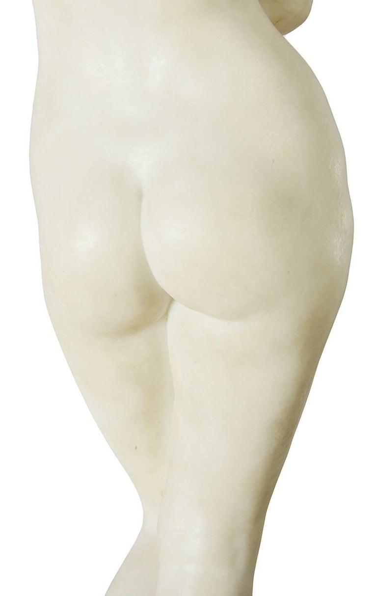 E. Rosa Carved 19th Century Italian Marble Statue of a Nude For Sale 1
