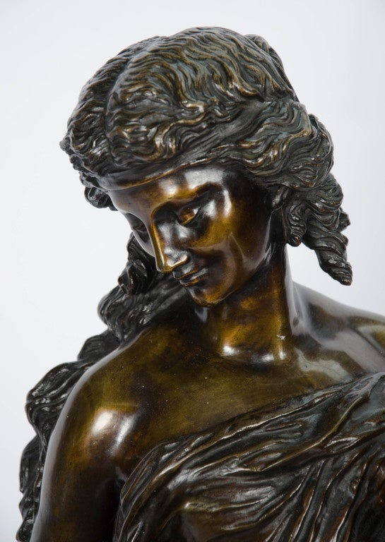 Italian Large classical 19th Century Bronze Statue For Sale