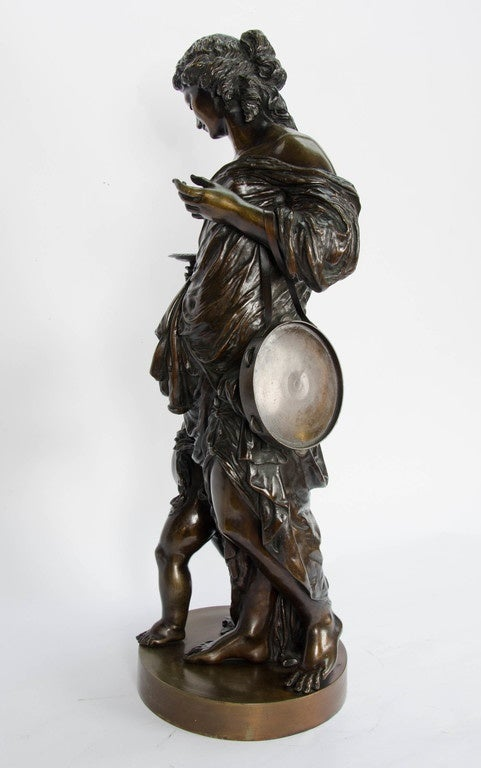 Mid-19th Century Large classical 19th Century Bronze Statue For Sale