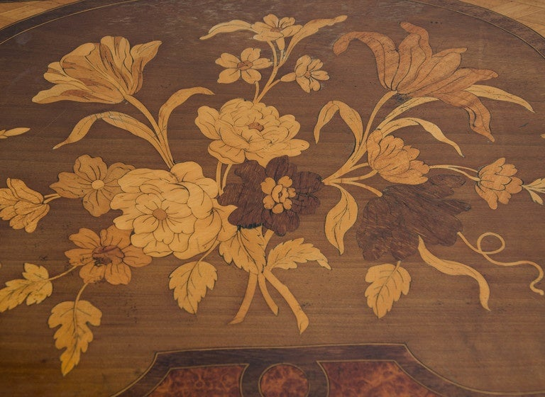 Marquetry Pair of Louis XV Style Inlaid Side Tables For Sale