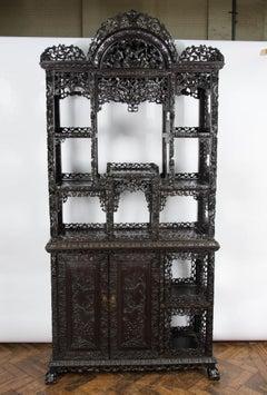 19th Century Chinese Hardwood Shelves