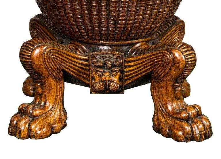 Inlay Regency period, Pollard Oak Drum table, 1820 For Sale