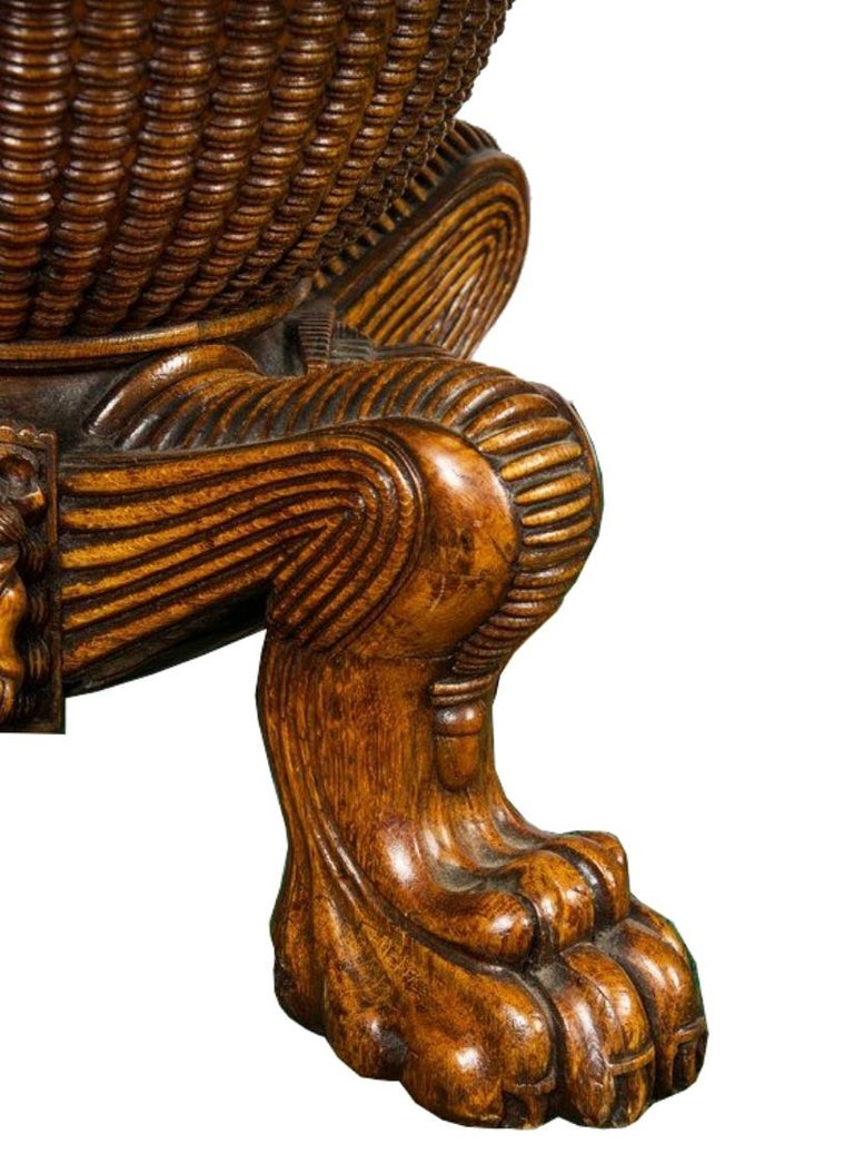 Regency period, Pollard Oak Drum table, 1820 In Good Condition For Sale In Brighton, Sussex