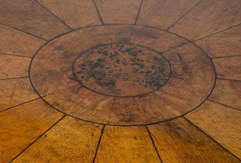 Early 19th Century Regency period, Pollard Oak Drum table, 1820 For Sale