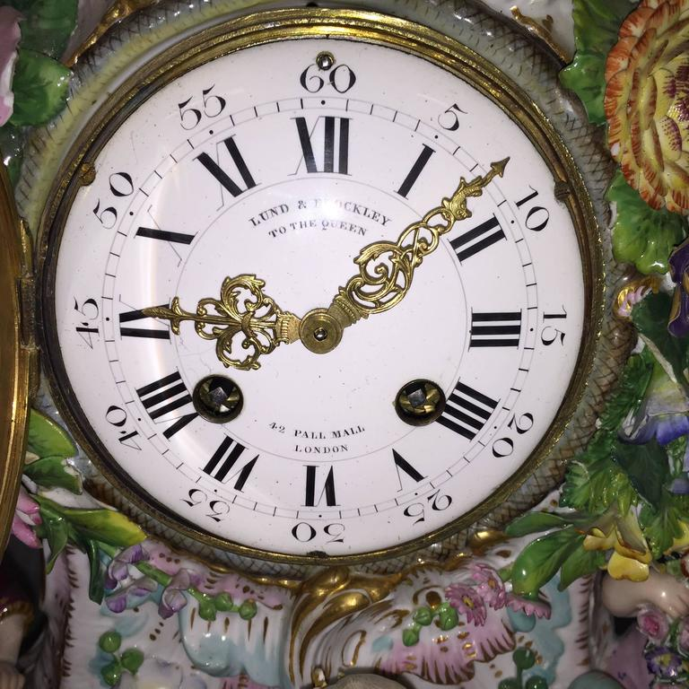19th Century Meissen Porcelain Clock In Good Condition For Sale In Brighton, Sussex