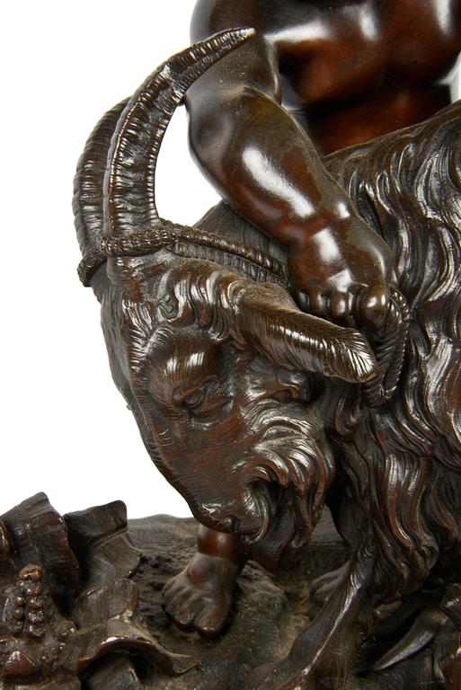 Classical 19th Century Bacchus Bronze Group In Good Condition For Sale In Brighton, Sussex