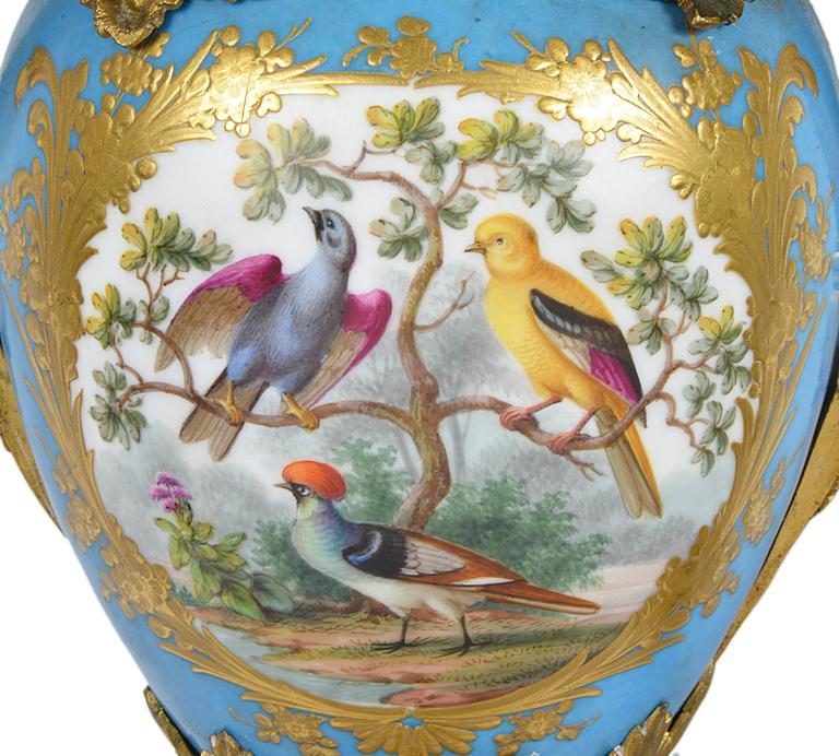 Louis XVI Large Pair of Antique Sevres Candelabra For Sale