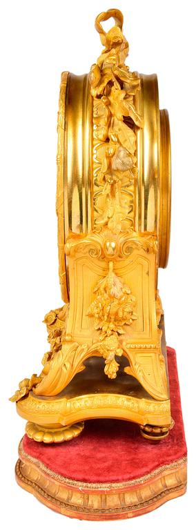 Louis XVI French Ormolu Calendar Mantel Clock, 19th Century For Sale