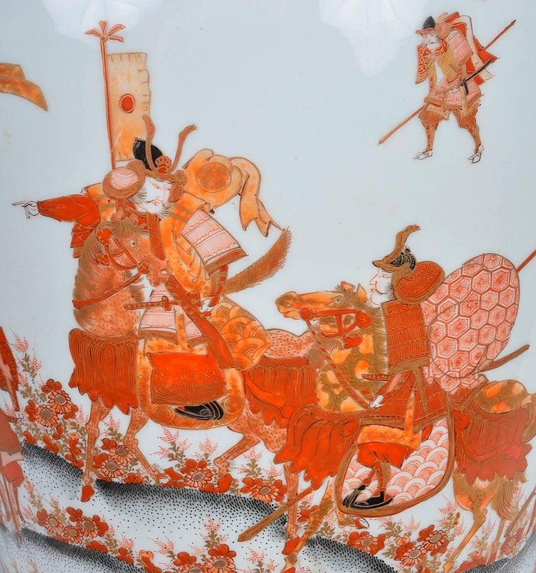 19th Century Japanese Fukagawa Karachi Vase or Lamp In Good Condition In Brighton, Sussex