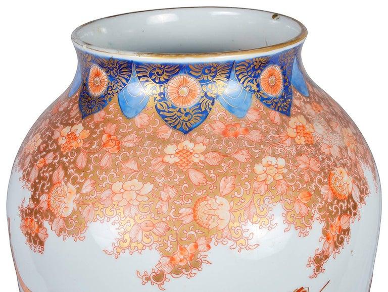 19th Century Japanese Fukagawa Karachi Vase or Lamp 1